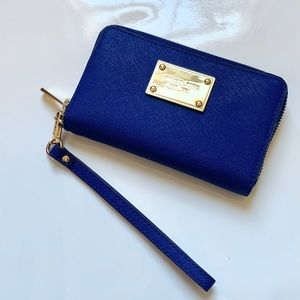 Michael Kors small wristlet wallet royal blue!